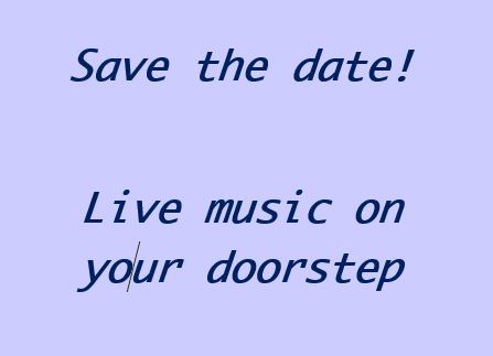 save the date music