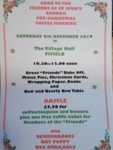 Friends of St John Pre Christmas Coffee Morning