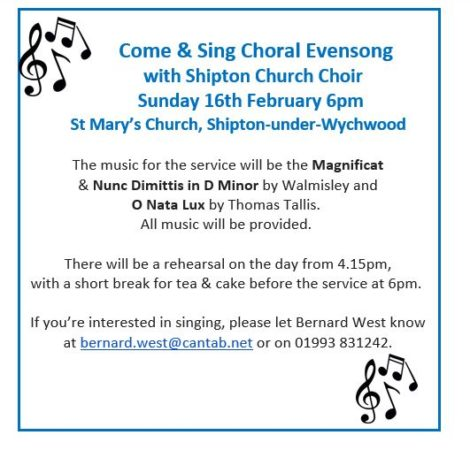 Come and Sing Feb 2020