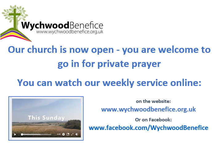 Churches are open for private prayer and online service