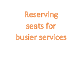 reserve busier servies