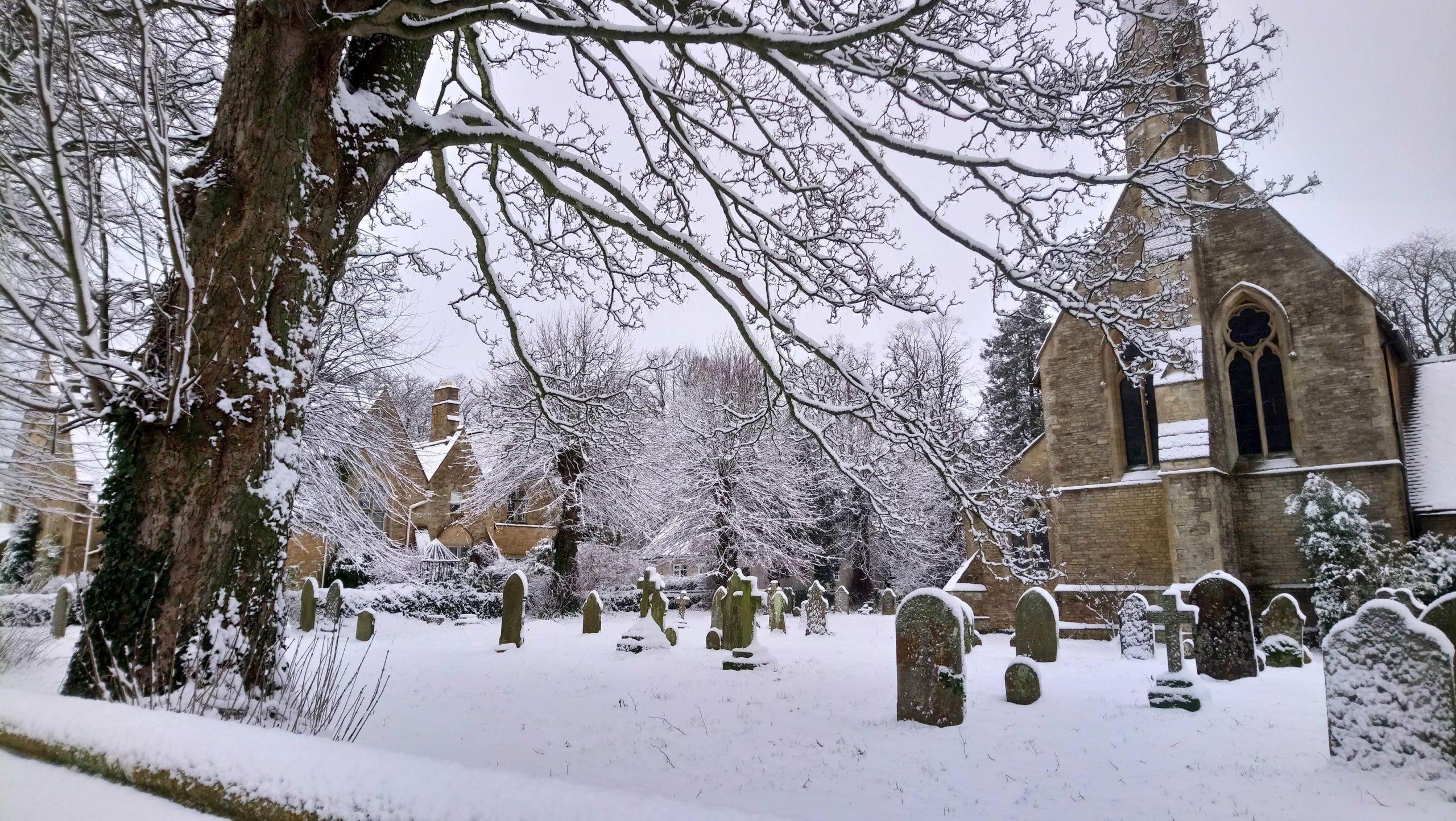 snow day Milton church