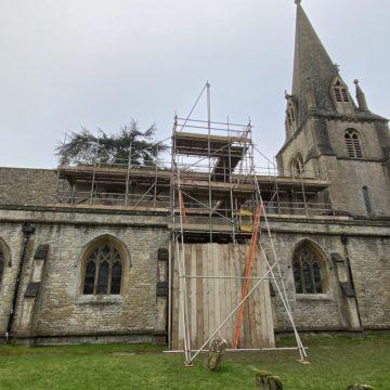 work on shipton church