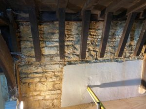 work on stonework and roof timbers feb 21