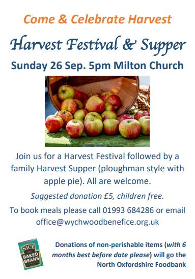 Milton Harvest Supper